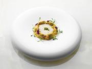 Agnolotti de champignons et cremalba, émulsion de foie gras