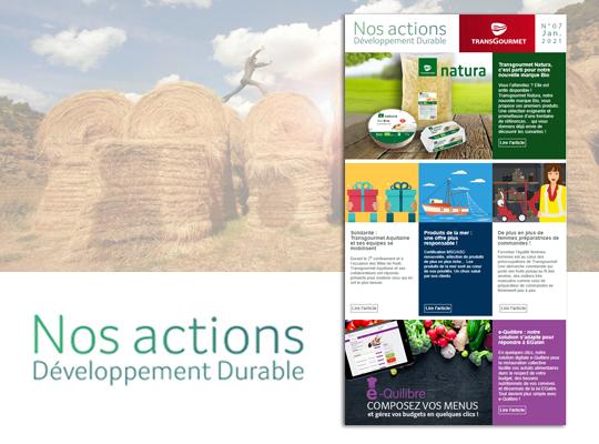 Transgourmet - Newsletter développement durable janvier 2021